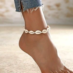 3/$25 Natural Cowrie SeaShell bead anklet